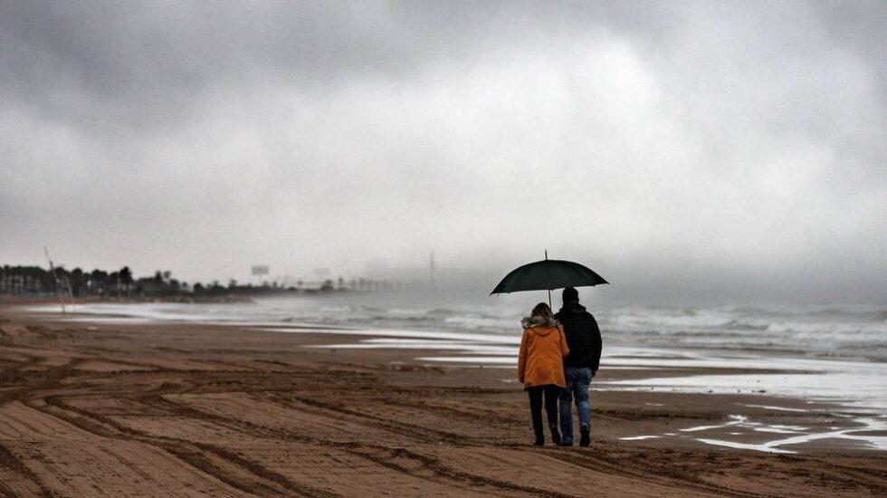 Imagen de archivo de una tormenta en Valencia