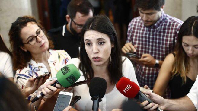 Irene Montero en el Congreso de los Diputados el 16 de julio, en una de sus últimas apariciones públicas.