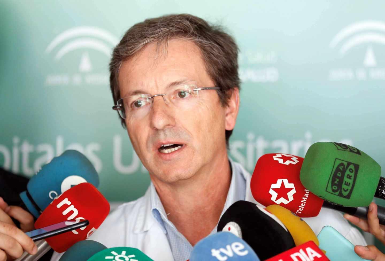 El portavoz sanitario de la Junta de Andalucía, José Miguel Cisneros.