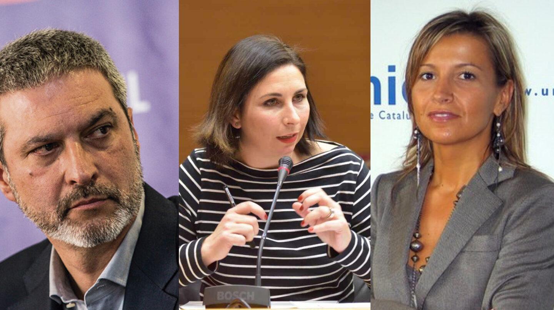 Ramón Bosch, Astrid Barrio y Eva Parera