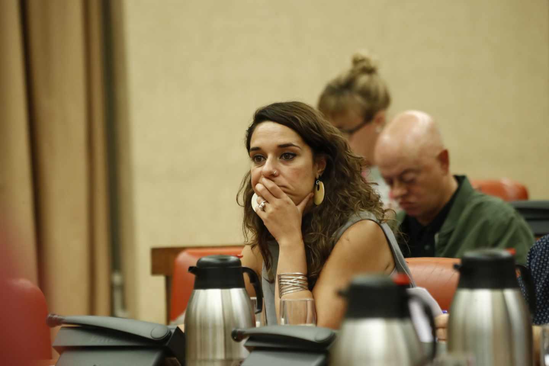 Noelia Vera durante la Diputación Permanente del Congreso, el pasado 30 de julio.