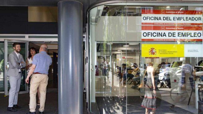 Oficina de empleo, en la Comunidad de Madrid.