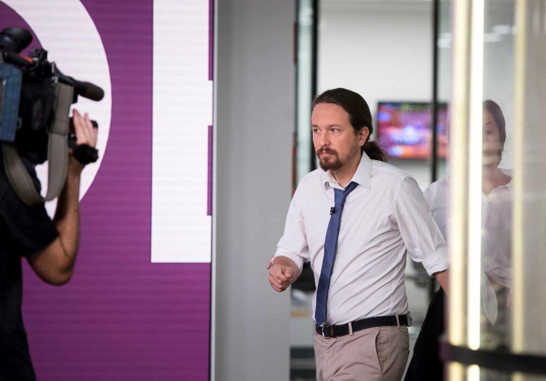 Pablo Iglesias entrevistado en Antena 3.