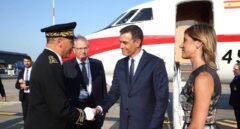 Pedro Sánchez, a su llegada a la cumbre del G-7.