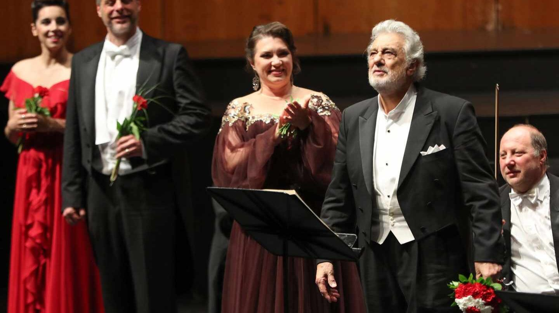 Plácido Domingo, aclamado tras su actuación en Salzburgo.