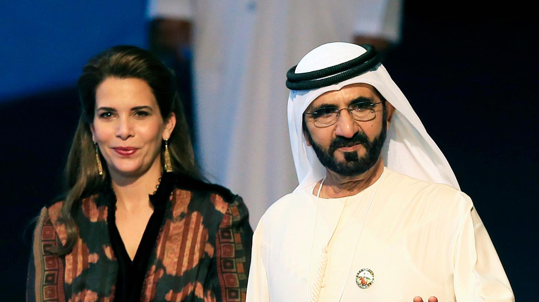 La princesa Haya junto al emir de Dubai, Mohamed bin Rashid al Maktoum, en sus tiempos felices.