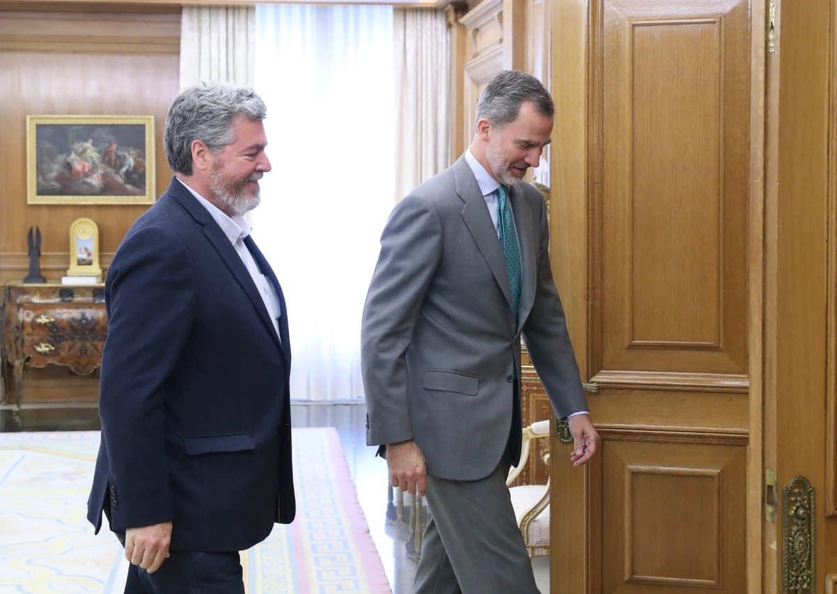 Juantxo Uralde, durante la Audiencia del Rey Felipe VI el pasado 5 de junio.