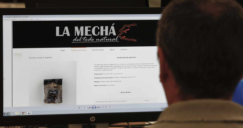 Página web de la marca de carne mechada 'La Mechá'.