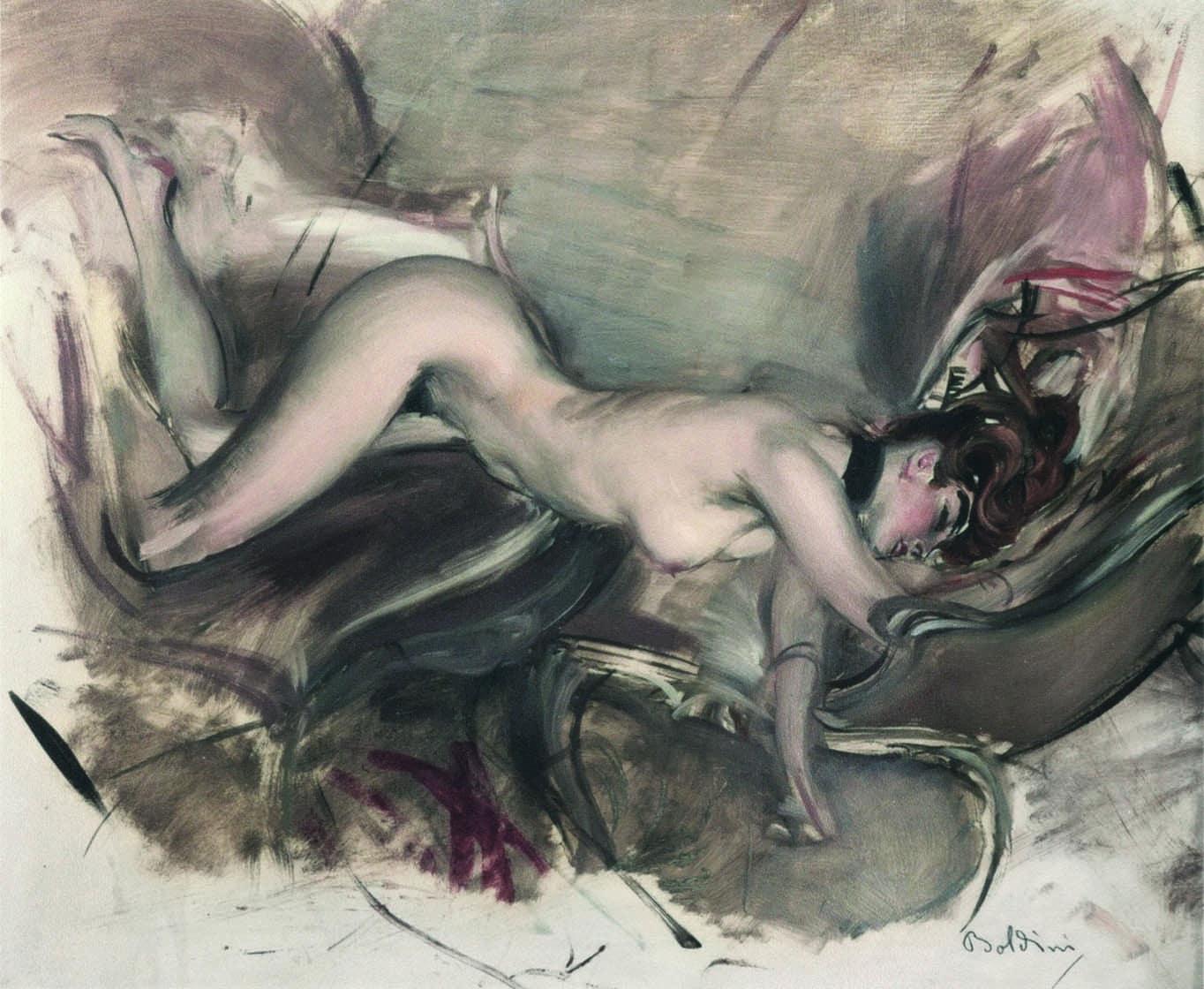 Giovanni Boldini Nudo di giovane signora [Desnudo de mujer joven], 1890-1900