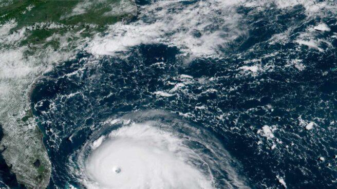 Imágen satélite del ojo del huracán Dorian.