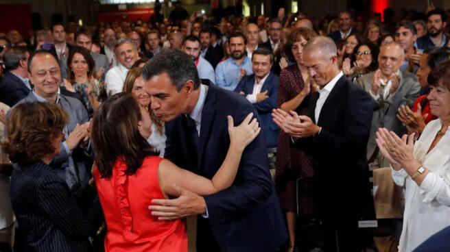 Pedro Sánchez, en el acto del acuerdo programático.