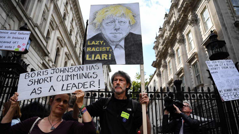 Protestas contra Boris Johnson en Downing Street.
