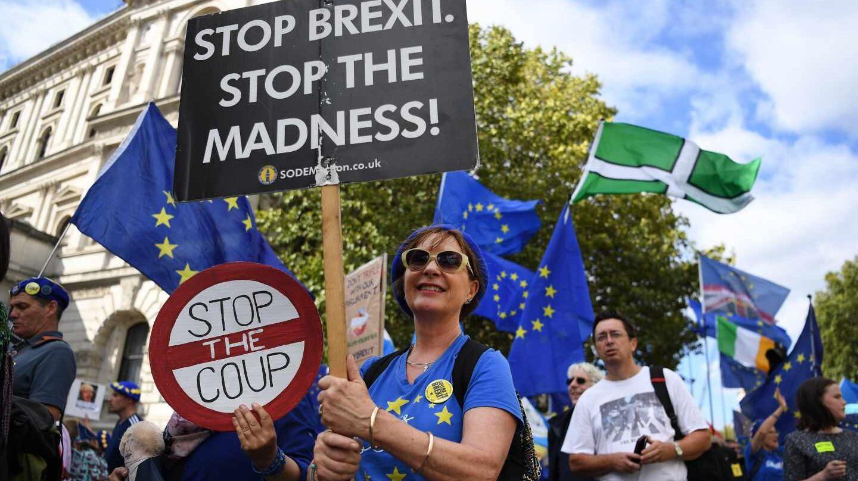 Protestas en Londres contra el Brexit.