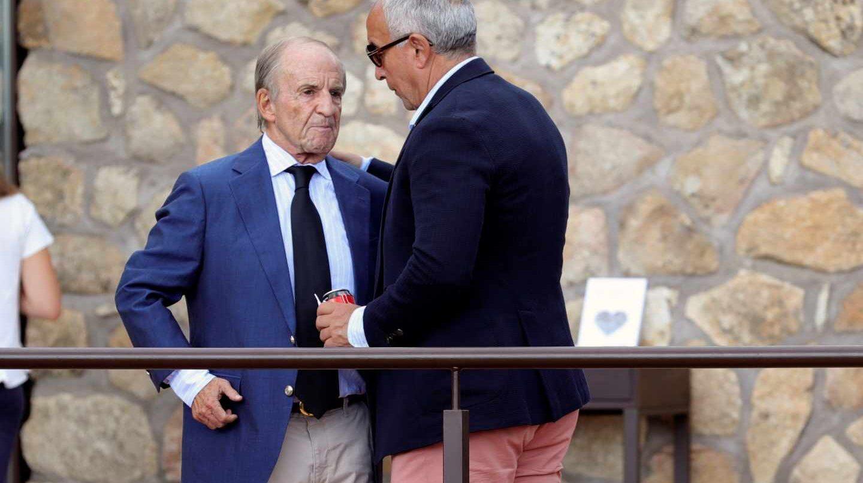 José María García, con Alejandro Blanco en Cercedilla.