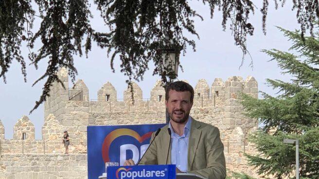 Pablo Casado, en Ávila.
