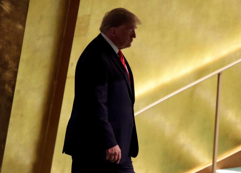 Donald Trump en los pasillos de la ONU