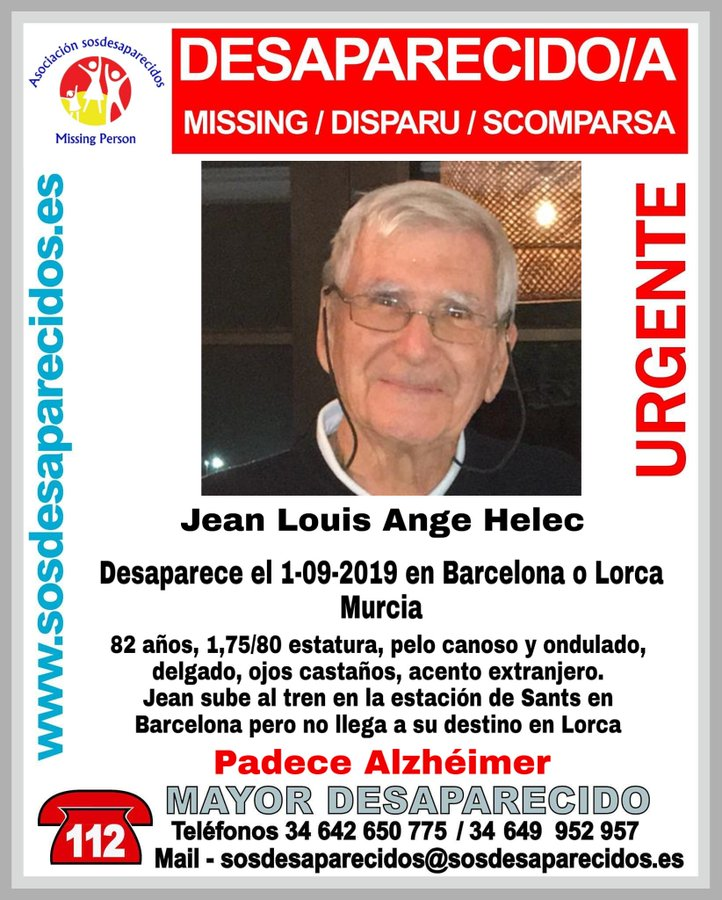 Desaparecido Barcelona y Lorca