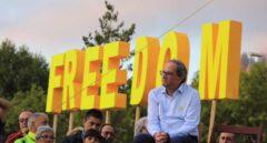 Quim Torra durante el acto político 'Llum i llibertat'