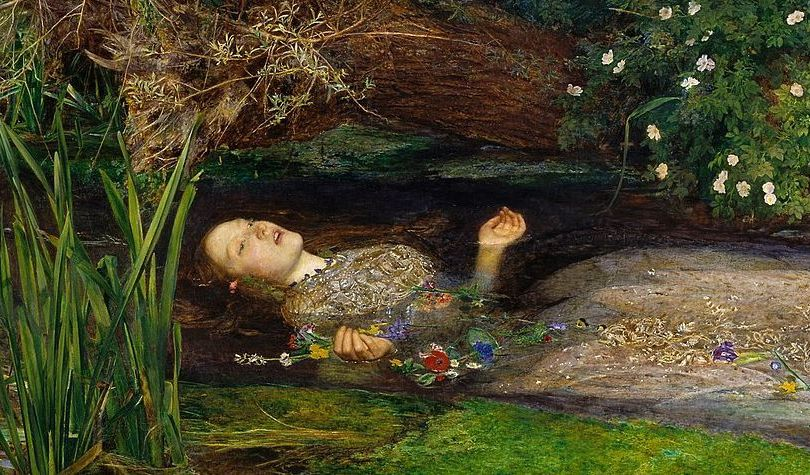 Elisabeth Siddall como Ofelia, de John Everett Millais.