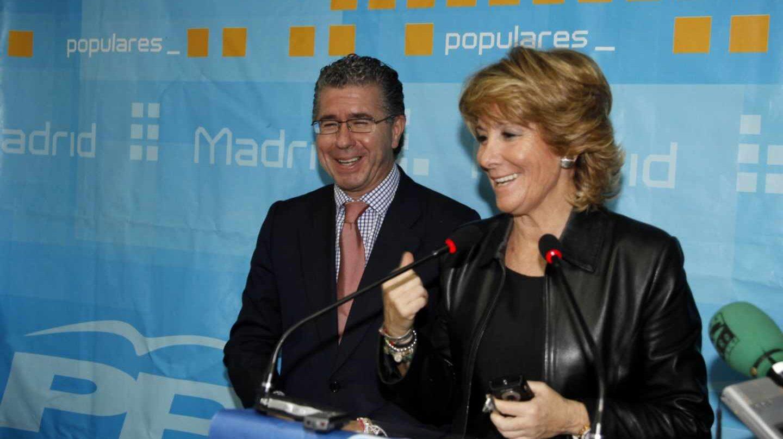 Francisco Granados y Esperanza Aguirre.