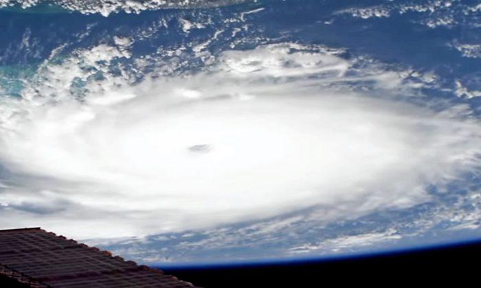 Huracán Dorian desde el espacio
