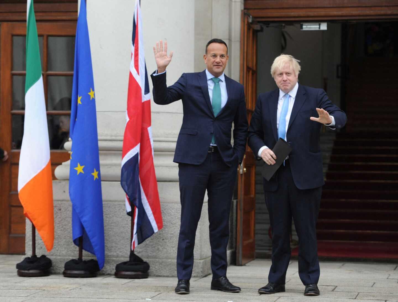 Leo Varadkar y Boris Johnson