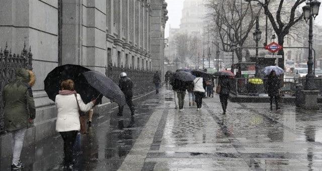 Diluvio en Madrid.