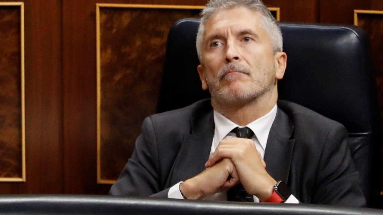 Fernando Grande-Marlaska, en su escaño del Congreso de los Diputados.