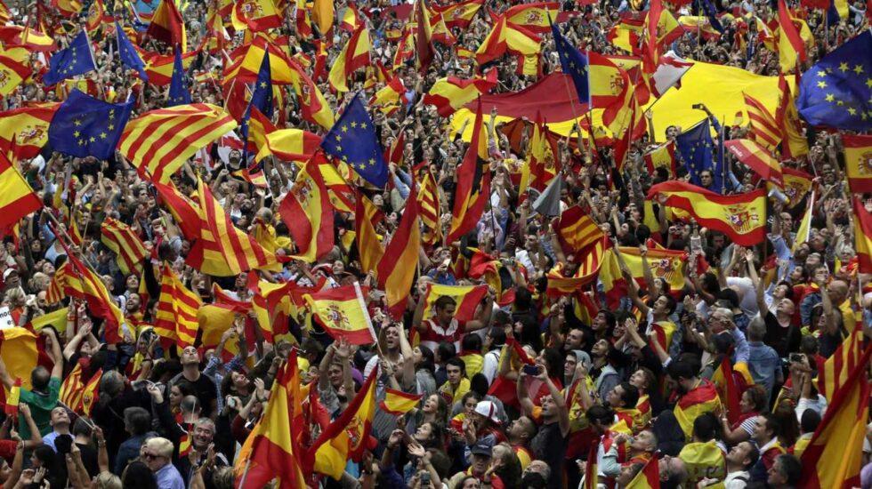 Manifestación del 8-O en Barcelona contra el independentismo catalán