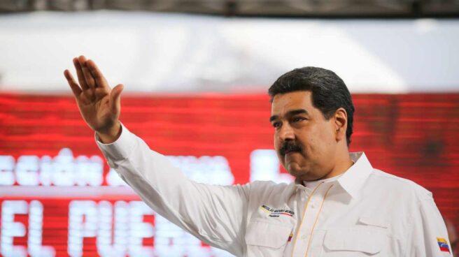 El líder chavista, Nicolás Maduro, ante sus seguidores.