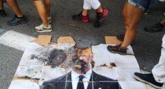 Foto quemada de Felipe VI.