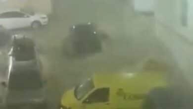 Málaga, azotada por el temporal