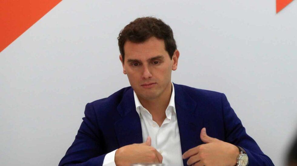 Albert Rivera, en la sede de Ciudadanos.