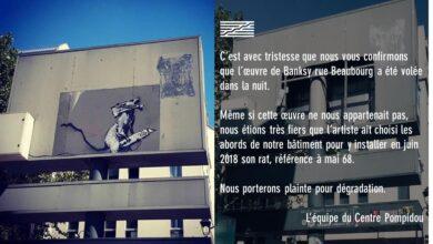 Roban un Banksy del Pompidou de París