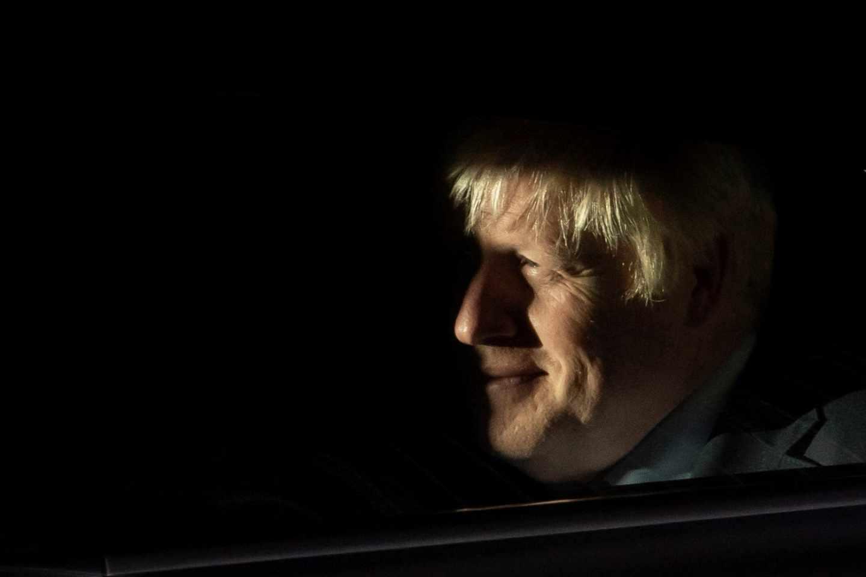 Boris Johnson, tras ser derrotado por el Parlamento británico.