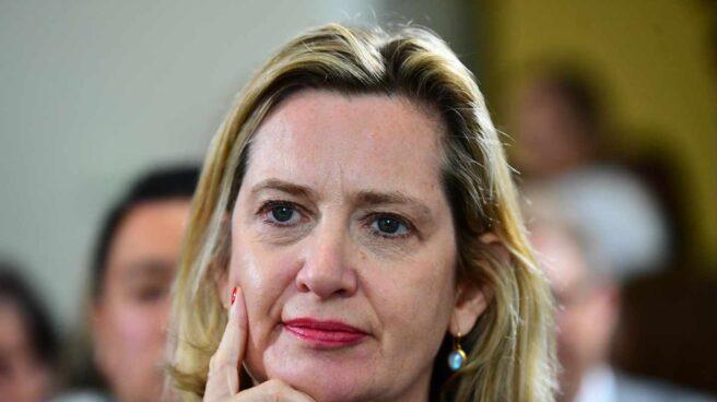 La ministra de Trabajo y Pensiones del Gobierno británico, Amber Rudd.