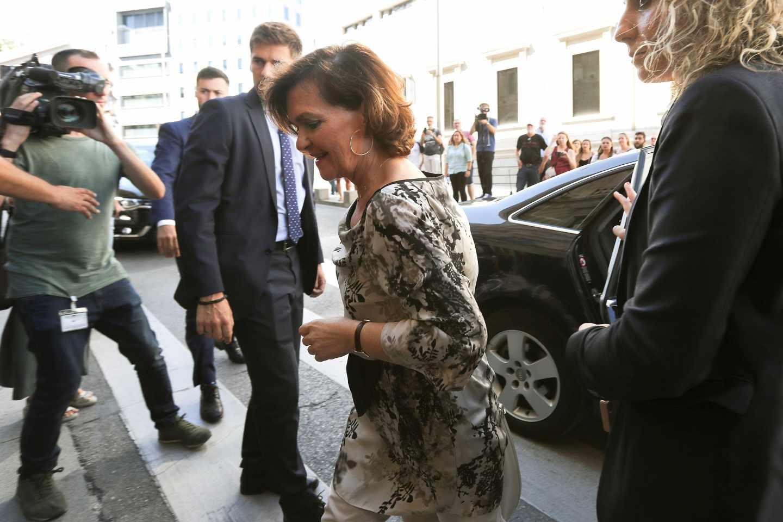 Carmen Calvo, esta semana en el Congreso de los Diputados.