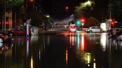 Una tromba de agua anega calles y túneles en Valladolid