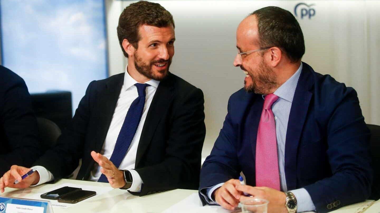 El PP se desmarca de Cs y evita hacer bandera de la aplicación del 155 en Cataluña