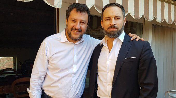 Abascal viaja a Roma para reunirse con Matteo Salvini