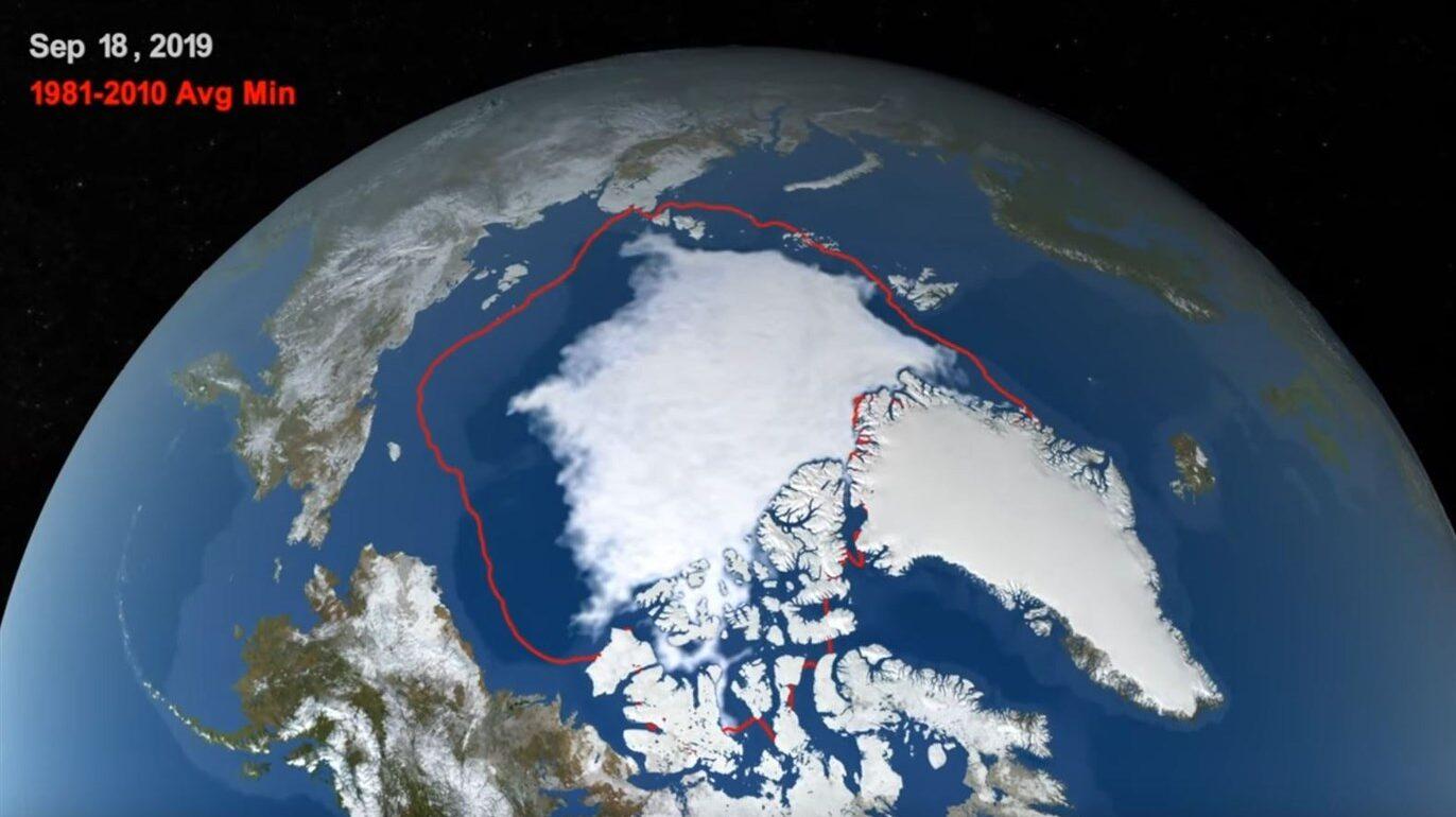 El Ártico registró su segundo mínimo anual histórico de hielo este año