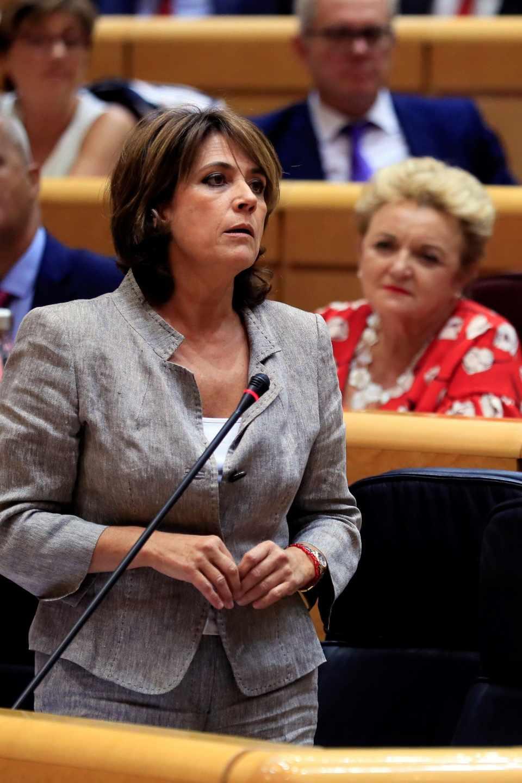 Dolores Delgado, este martes en el Senado.
