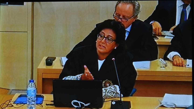 La fiscal Carmen Launa en la Audiencia Nacional.
