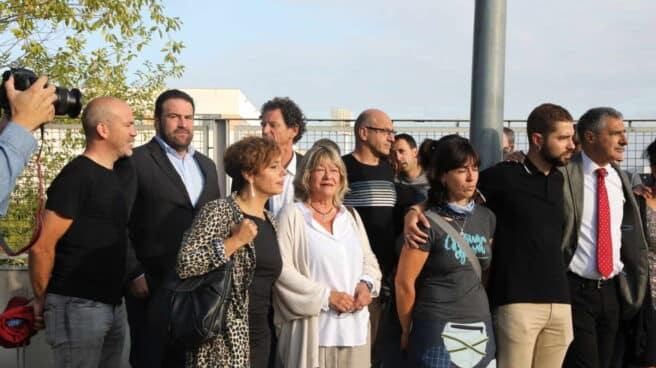 Las abogadas Amia Izko y Arantza Zulueta, antes de acceder a la vista en la Audiencia Nacional.