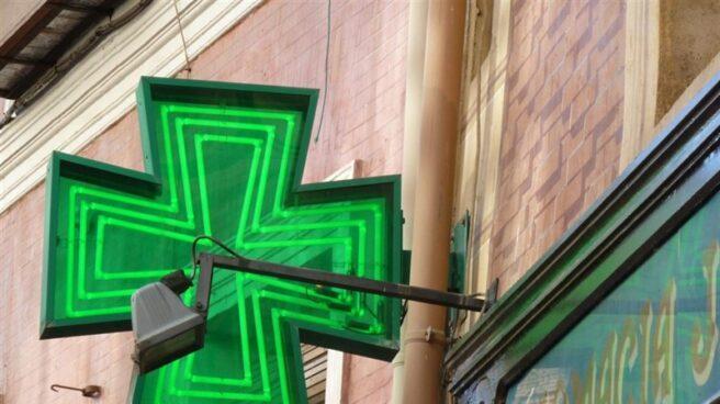 Letrero de una farmacia.