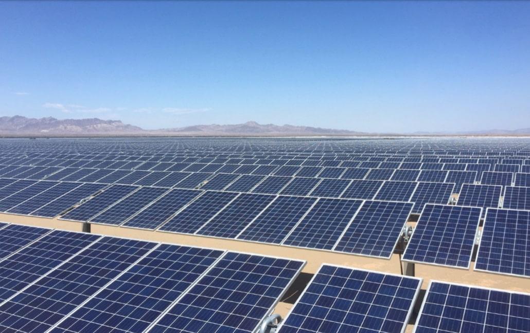Una planta de energía solar fotovoltaica.