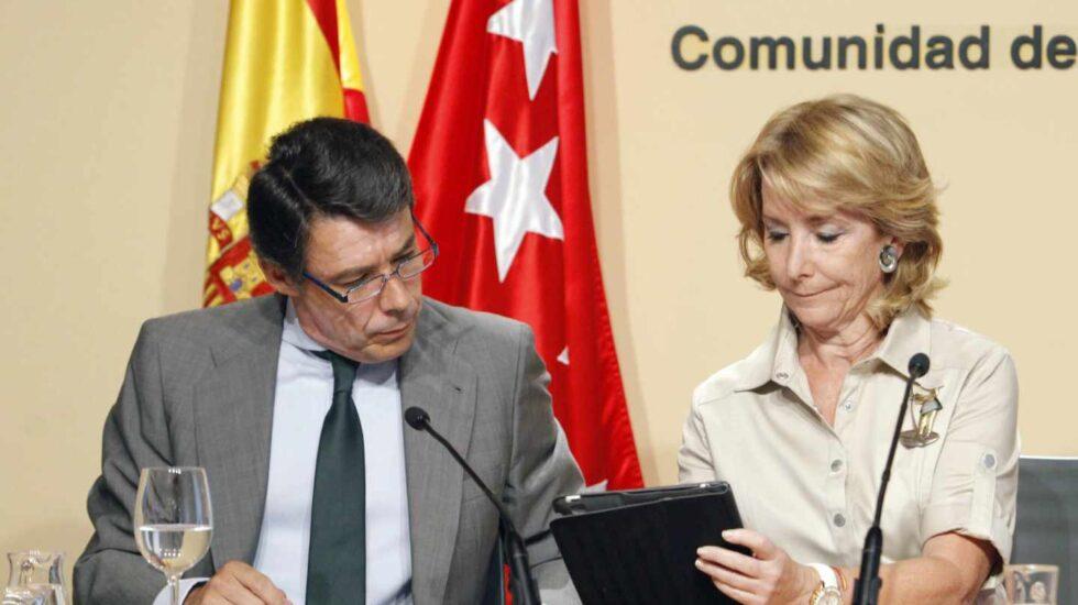 Ignacio González y Esperanza Aguirre en 2011.