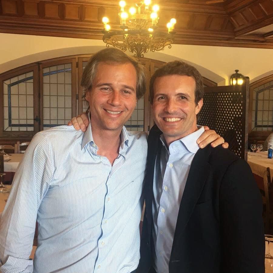 Antonio González Terol y Pablo Casado, juntos, en una imagen compartida en redes sociales.