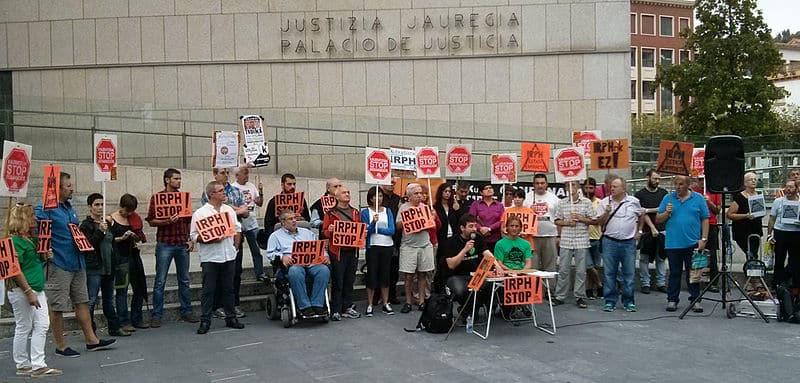 Manifestación contra las hipotecas abusivas.