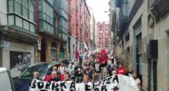 Manifestación a favor de los presos de ETA.